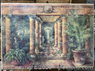 Plaque of Statuesque Garden
