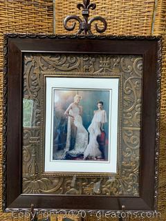Framed Art- 2 Brides in Very Decorative Frame