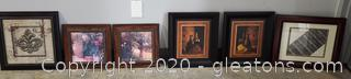 Collection of Framed Art- 6 Pieces