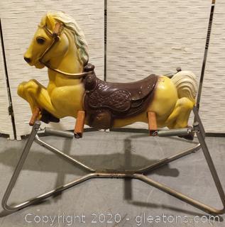 Vintage Bouncing Rocking Horse