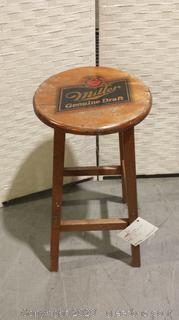 Vintage Wooden Miller Genuine Draft Stool