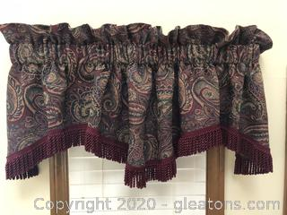 Tapestery Scalloped Valance with Fringe