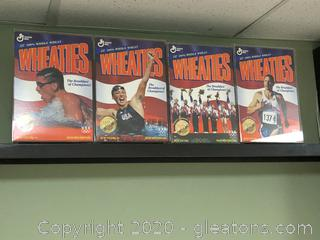 Lot of Wheaties Boxes in Acrylic Case 1996 Olympics