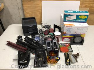 Lot of office Supplies and New Boxes of Envelopes