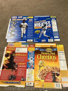 Pair of Wheaties Box Flats Kirk Franklin and Griffey Jr