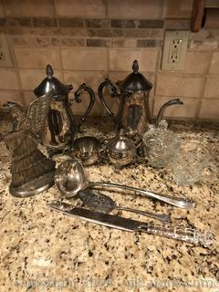 Lot of Silverplated Serving Pieces