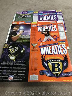 Lot of Wheaties Boxes Balitmore Ravens, Carl Ripken, Jr, Walter Payton