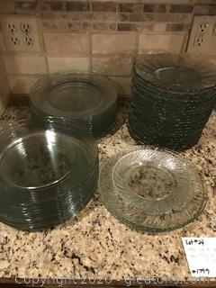 Huge lot of Glass Dinner Plates and Salad Plates
