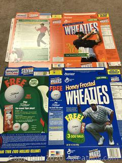 Pair of Tiger Woods Wheaties Box Flats
