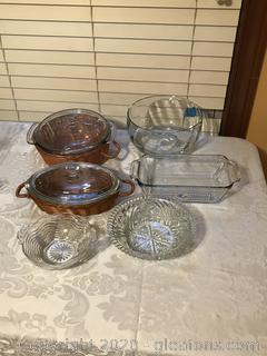 Lot of Glass Casserole's and Bowls