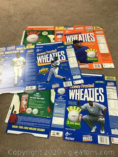 Lot of 3 Wheaties Box Flats Griffey, Jr, Tiger Woods