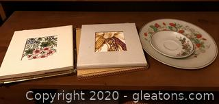 Lot of Collectible Avon Trivets and China