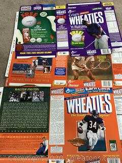 Wheaties Box Flats Walter Payton, Aruthur Ashe, Tiger Woods