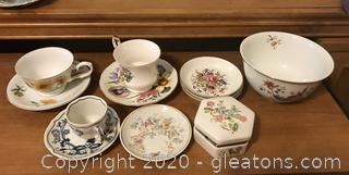 Lot of Collectible China by Avon