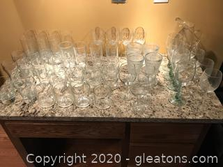 Lot of Crystal and Glass Ware