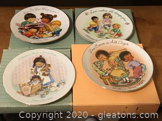 Lot of 4 Avon Collectible Miniature Plates