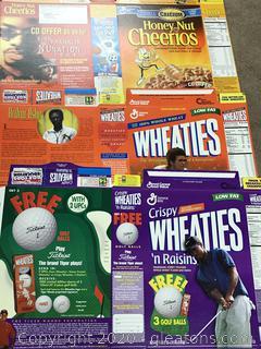 Wheaties Box Flats Arthur Ashe, Tiger Woods, Kirk Franklin