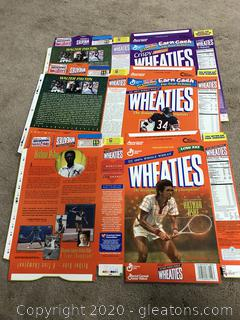 Lot of Wheatie Box Flats Walter Payton and Arthur Ashe