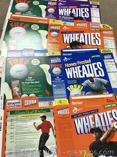 Lot of four Tiger Woods Wheaties Box Flats