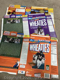 Wheaties and Cheerios Box Flats Kirk Franklin and Walter Payton