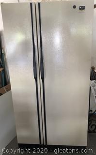 Whirlpool Side By Side Great Working Refrigerator Freezer