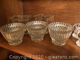 Lot of Glass Candle Holders