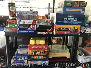 Large Lot of Games, Toys, and Puzzles
