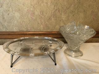 Vintage Glass Serving Ware
