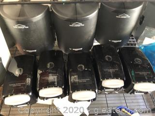 Lot of Georgia Pacific Towel and Soap Dispensers