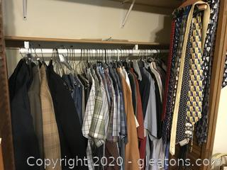 Lot of Mens Clothes, Suits, and Ties