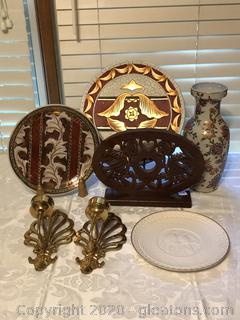 Lot of Decorative Plates and Oriental Vase