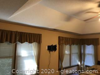 Lot of Sheer Curtains and Velvet Valances
