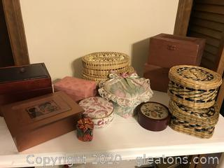 Lot of Decorative  Boxes