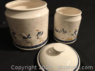 Classic Duck Large Canister and utensil Jar