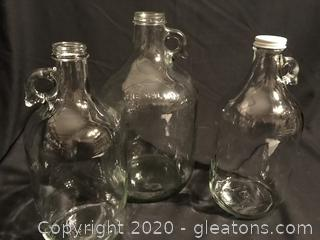 Three old jugs