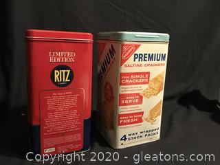 Two Vintage Cracker Tins