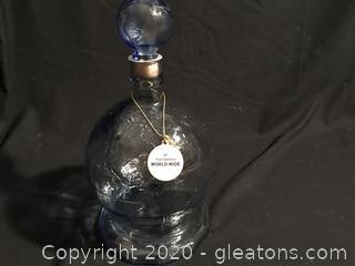 Emhart Glass Co Bicentennial World Glass Globe Decanter