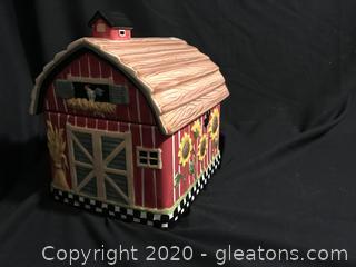 Farmhouse Barn Cookie Jar