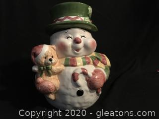 Happy Snowman Cookie Jar