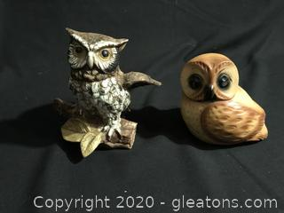 Two Owls Figures
