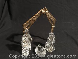 Gotham Crystal Nativity Set