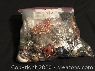 4+ pounds of mixed costume jewelry