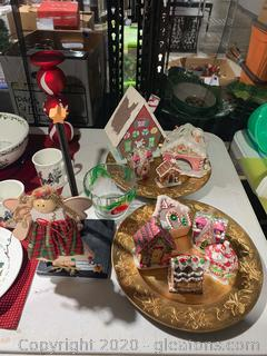 Christmas Gingerbread House Decor and Ornaments