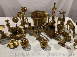 Assortment of Brass Figurines