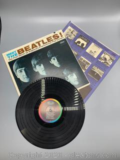 """Vintage """"Meet the Beatles!"""" Vinyl 33 1/3 Record"""