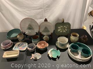 Assortment of Handmade Pottery