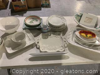 Assortment of Ceramic Dishes