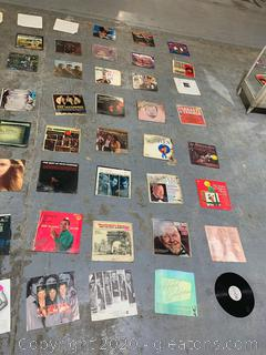 Vintage Vinyl 33 1/3 Records with Compromised Sleeves