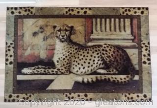Majestic Print Pompeii Cheetah Sand Area Rug