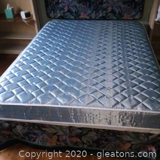 Queen Size Mattress, Box Springs, and Frame